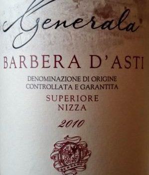 """Barbera """"Generala"""" 2010 – Bersano"""