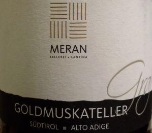 "Goldmuskateller ""Graf"" 2016 – Meran Kellerei"