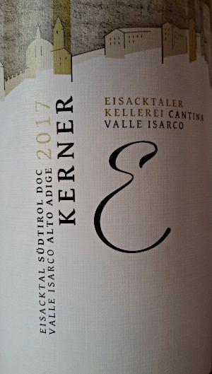 Kerner 2017 Valle Isarco