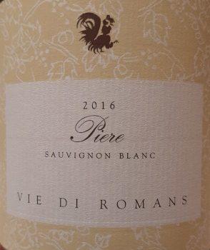 """Sauvignon Blanc """"Piere"""" 2016 – Vie di Romans"""
