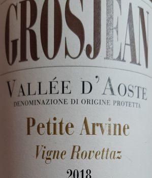 "Petite Arvine ""Vigne Rovettaz"" 2018 – Grosjean"