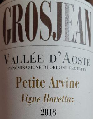 Petite Arvine 2018 Grosjean