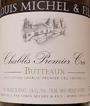 Chablis Butteaux 2016 Louis Michel & Fils